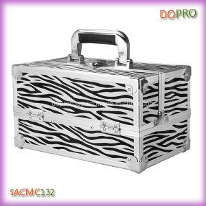 Professional Zebra Pattern Cosmetic Train Cases for Makeup (SACMC132)
