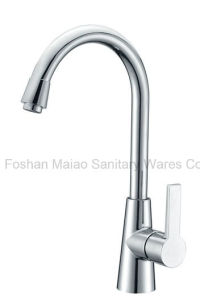 Sanitary Ware Brass Material Satin / Chrome Plated Kitchen Faucet (2028) pictures & photos