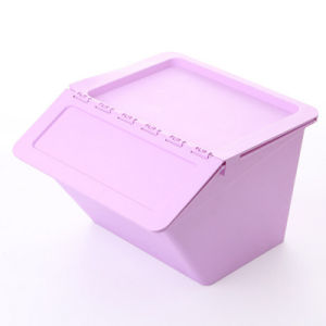 Solid Color Plastic Flip-on Storage Box (SLSN063)