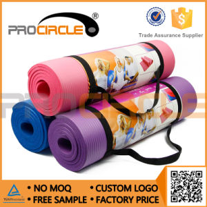 Cheap Yoga Mat with Carry Strap NBR Yoga Mat (PC-YM4001-4003) pictures & photos