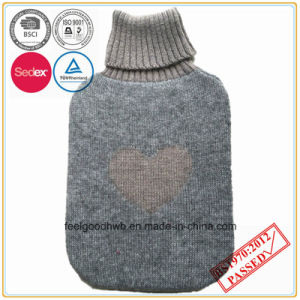 2L Hot Water Bottle with Cashmere Knitted Cover pictures & photos