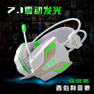 Wired Noise Reduction LED Vibration Gaming Headset for Gamer (K-13) pictures & photos