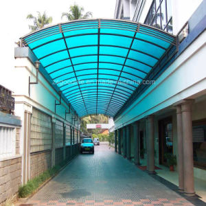 10mm Lake Blue Polycarbonate Twin Wall Sheet for Hallway Tent pictures & photos