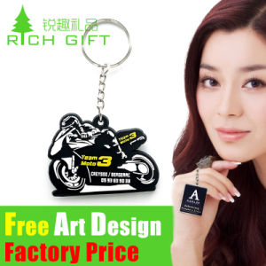 Fashion Design 3D on One Side PVC/Rubber Keychain House Handbag pictures & photos