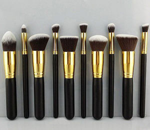 10 PCS Professional Portable Cosmetic Tool Makeup Brush