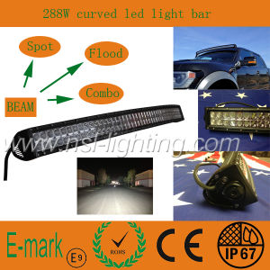 288W CREE Curved LED Light Bar off Road Driving pictures & photos