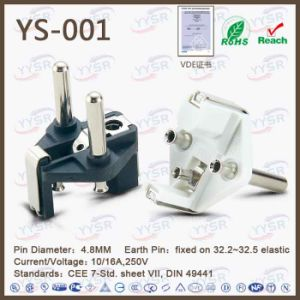 VDE French Schuko Power Cord Plug pictures & photos