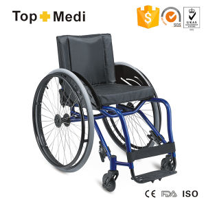 China Supplier Topmedi Cheap Price Aluminum Frame Sports Wheelchair pictures & photos
