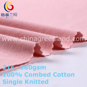 Knitting Cotton Single Jersey Fabric for Garment Bedsheet (GLLML408) pictures & photos