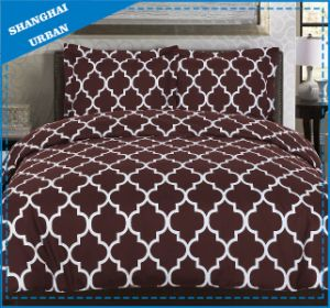 Burgundy White Totem Polyester Duvet Cover Bed Linen pictures & photos