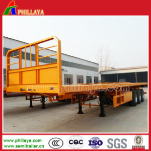 Cimc Three Axis 40-60tons 40FT Container Transport Flatbed Semi Trailer pictures & photos