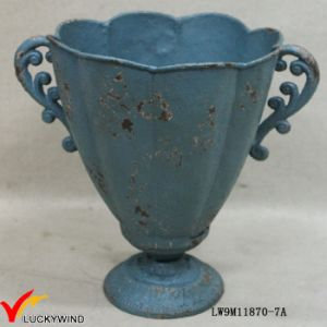 Cast Iron Blue Rustic French Antique Pedestal Planters and Urns pictures & photos