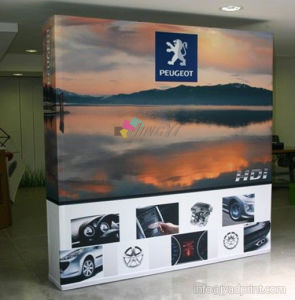 8FT Straight Tension Fabric Pop-up Banner Display Stand (Frame & Graphic) pictures & photos