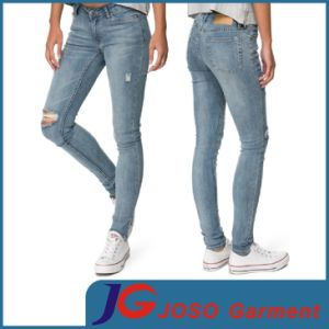 Women Fashion Destroyed Skinny Denim Pants (JC1396) pictures & photos