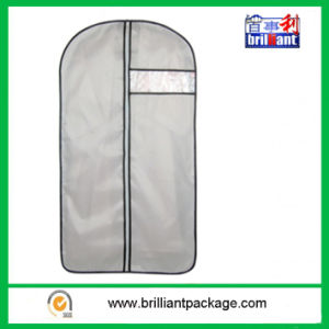 Simple Design PEVA Suit Cover/Garment Cover with Logo Print pictures & photos