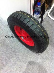 Penumatic Wheel Barrow Wheel/ 400-8 Rubber Wheel for Poland Market pictures & photos