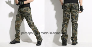 Cool Mens Camo Print Cotton Long Cargo Pants pictures & photos