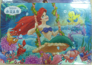 Loving Mermaid Printing Jigsaws Puzzle Board pictures & photos