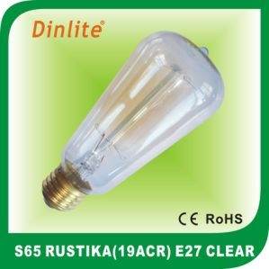 S65-19(ACR) 40W 60W Clear Rustika bulb pictures & photos