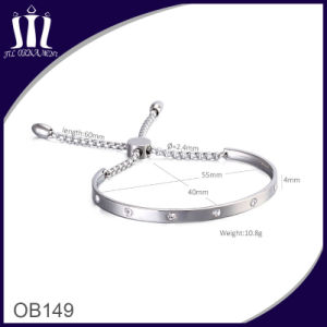 Adjustable Round Package Set Zircon Chain Bracelet with Round Box pictures & photos