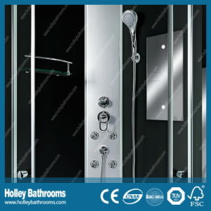 Hot Selling Multifunctional Shower Cabin with Double Roller Wheel and Mirror (SR111C) pictures & photos