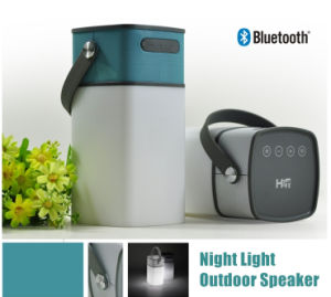 LED Night Light Camping Bluetooth Speaker with Waterproof