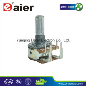 Reverse Type High Power B500k Rotary Dual Gang Potentiometer pictures & photos