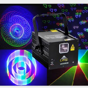 4 in 1 Multi-Effects RGB Animation Laser Light for DJ and Disco
