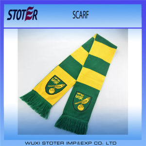 Promotional Custom Logo Football Soccer Team Knitted Scarf