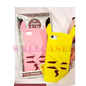 Wholesale Pocket Moster Pikachu Silicone Jacket Phone Case for iPhone 4/5/6/6plus
