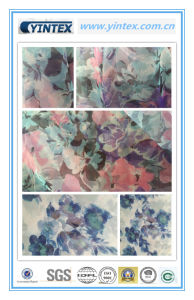 100% Poly Organza Printed Fabric pictures & photos