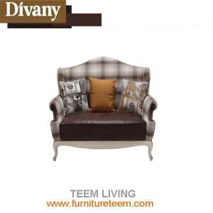 Black Antique French Style Leisure Wooden Two Seat Sofa Furniture pictures & photos