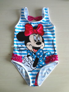 Allover Cartoon Print Girl Swimwear pictures & photos