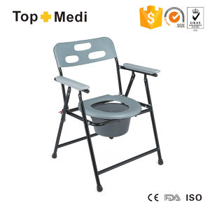 Lightweight Commode Chair with Plastic Bedpan pictures & photos