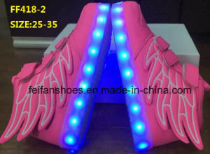 OEM Children Popular Wings LED Shoes Fashion Sport Shoes (FF418-2) pictures & photos