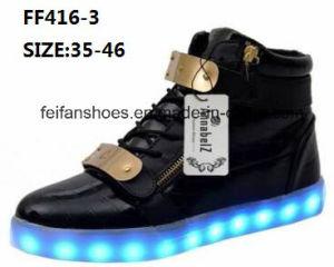 Men Latest Fashion MID-Cut LED Sport Shoes (FF416-3) pictures & photos