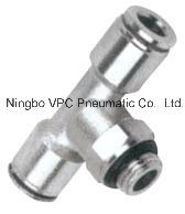 Brass Nickel Plated Swivel Tees BSPP Push in Fittings pictures & photos