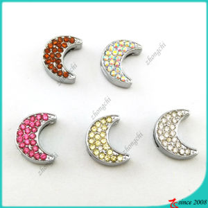Crystal Moon Slide Charms for DIY Bracelet Charms (SC16041908)