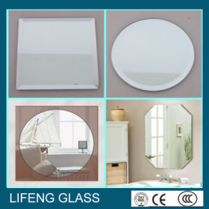 Shaped/Round Silver Mirror with Beveled Edge