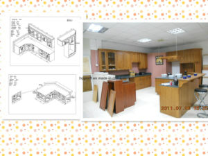 2015 Guanjia Kitchen Red Cherry Solid Wood Kitchen Cabinets pictures & photos