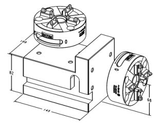 Quick Manual CNC Lathe Chuck with Square Block pictures & photos