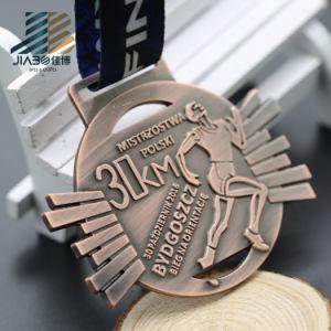 Antique Silver 30km Zinc Alloy Custom Marathon Running Medal pictures & photos