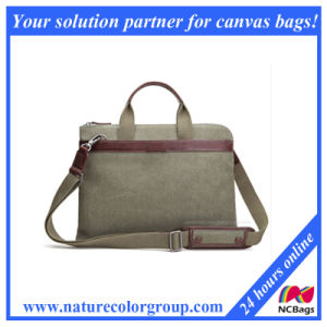 Fashionable Man′s Canvas Laptop Bag pictures & photos