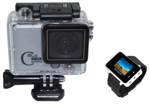 "2.0"" Screen 50m Waterproof Remote Control WiFi Action Camera"