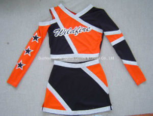 2016 Cheerleading Costumes: Long Sleeve Top and Skirt pictures & photos