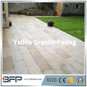 Yellow Color Granite Paving Stone for Landscape/Driveway/Square pictures & photos