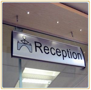 Aluminum Curved Hanging Sign/Reception Sign pictures & photos