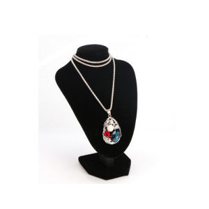Fashionable Velvet Jewelry Pendant Necklace Display Bust (NS-VBK-3)