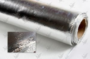 Al Coateg Fiberglass Cloth Aluminum Foil Coated Glass Fabric pictures & photos
