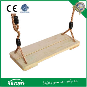 Flat Adult Children Wooden Swing Seat pictures & photos